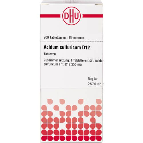 ACIDUM SULFURICUM D 12 Tabletten