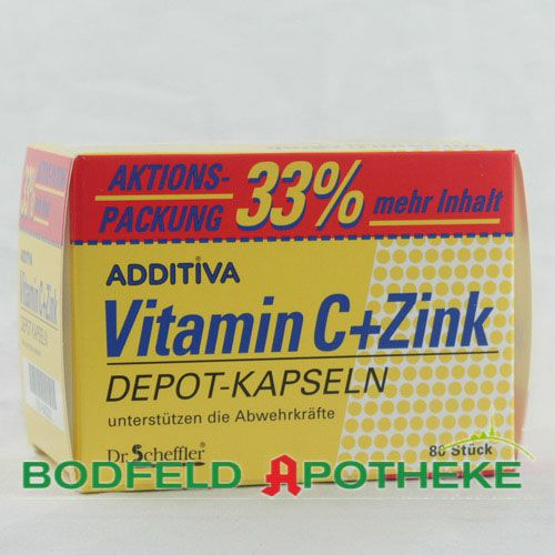 ADDITIVA Vitamin C+Zink Depotkaps.Aktionspackung
