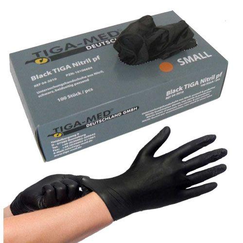 NITRIL Handschuhe Einweg puderfrei Gr.M schwarz 100 St